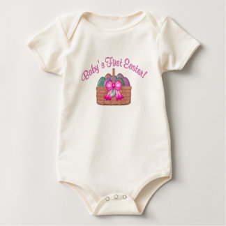 Baby's First Easter (pink) Baby Bodysuit