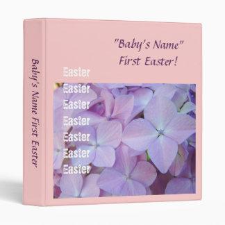 Baby's First Easter Pink Purple Hydrangea Flowers Binder