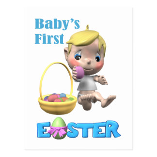 Baby's First Easter Postcard