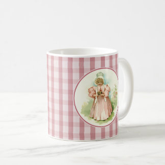 Baby's First Easter. Vintage Girl with Chicks Mugs