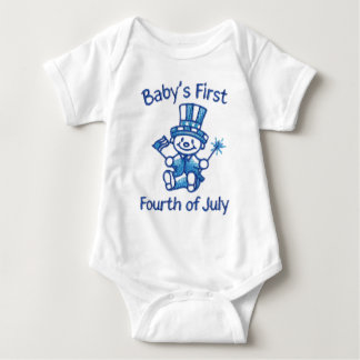 Baby's First Fourth Of July Baby Bodysuit