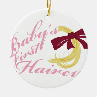 Babys First Haircut Ceramic Ornament