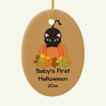 Baby's First Halloween Black Cat Ornament