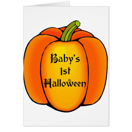 Baby's First Halloween Card