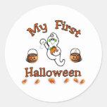 Baby's First Halloween Classic Round Sticker