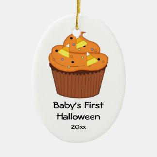 Baby's First Halloween Cupcake Ceramic Ornament
