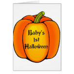 Baby's First Halloween Greeting Cards