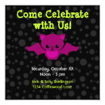 Baby's First Halloween 5.25x5.25 Square Paper Invitation Card