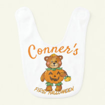 Baby's First Halloween Personalized Baby Bib