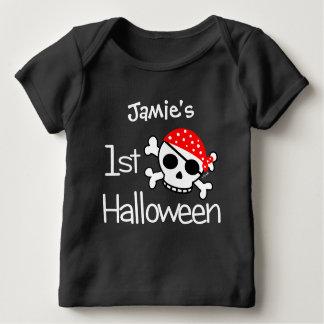 Baby's First Halloween Pirate Skull Baby T-Shirt