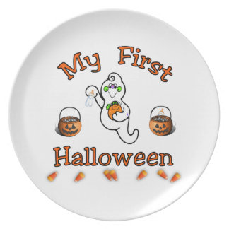 Baby's First Halloween Plate