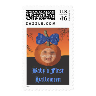 Babys First Halloween Postage Stamps