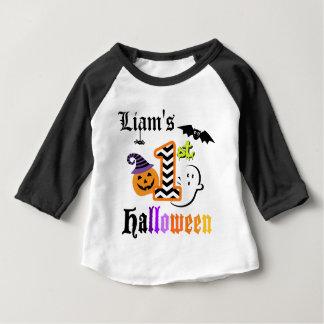 Babys First Halloween Shirt w Chevron