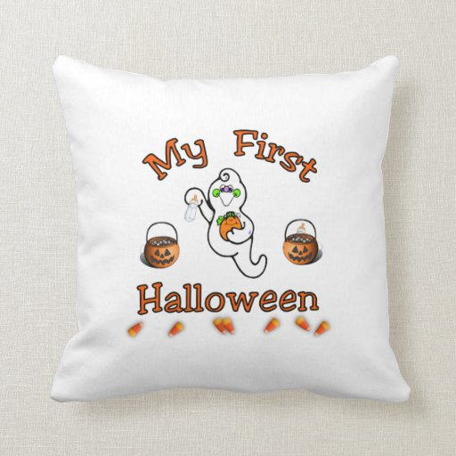 Baby's First Halloween Throw Pillows