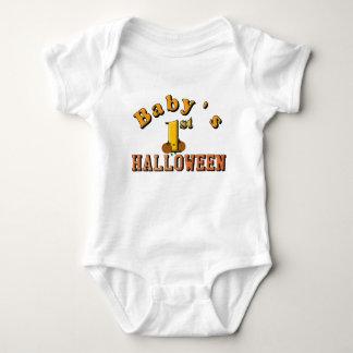 Baby's First Halloween w/ pumpkins Baby Bodysuit