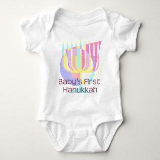 Baby's First Hanukkah in Pastels Baby Bodysuit