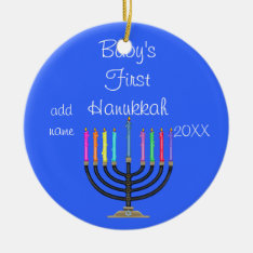 Baby's First  Hanukkah Ornament at Zazzle