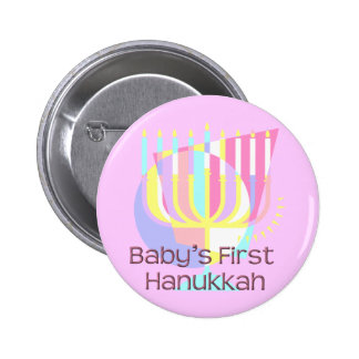 Baby's First Hanukkah Pinback Button