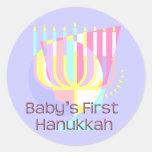 Baby's First Hanukkah Round Stickers