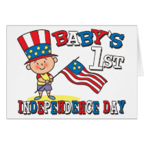 Baby's First Independence Day Card