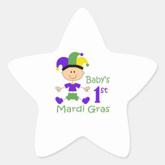 BABYS FIRST MARDI GRAS STAR STICKER