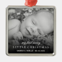 Baby's First Merry Little Christmas Photo Ornament