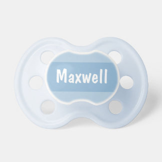 Baby's First Name | Personalized Blue Pacifier