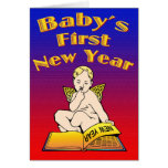 Baby's First New Year Greeting Card
