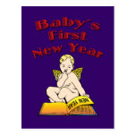 Baby's First New Year Postcard