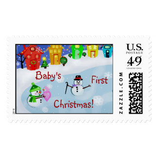 Baby's First (or Custom) Christmas Postage