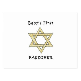 Baby's First Passover Postcard