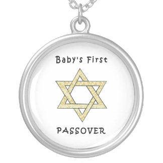 Baby's First Passover Round Pendant Necklace
