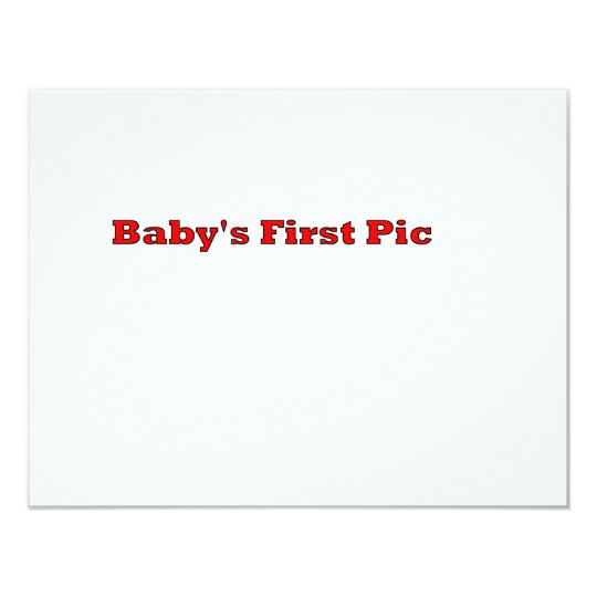 Baby's First Picture The MUSEUM Zazzle Gifts Card