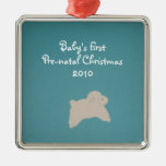 Baby's First, Pre-natal Christmas, 2010 Metal Ornament