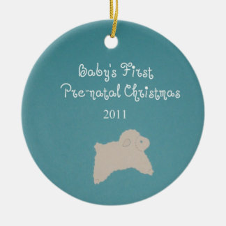 Baby's First Pre-natal Christmas 2011 Ceramic Ornament