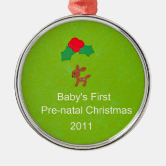Baby's First Pre-Natal Christmas 2011 Metal Ornament