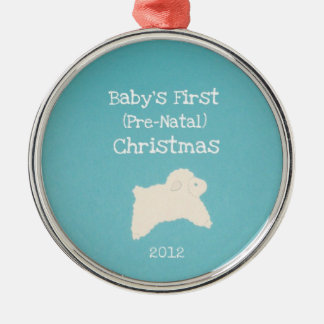 Baby's First (Pre-Natal) Christmas 2012 Metal Ornament