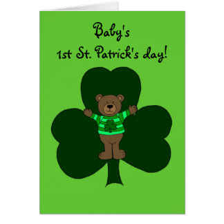 Baby's first St. Patrick's day Card