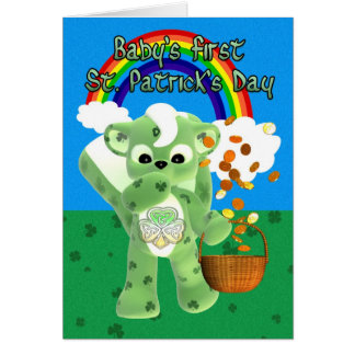 Baby's First St. Patrick's Day Card, with litte cu Card