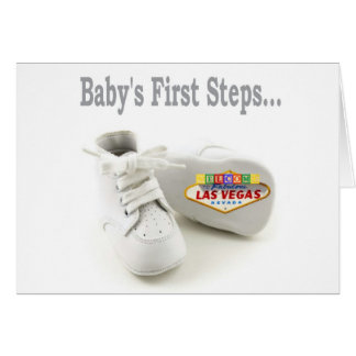 Baby's First Steps... Las Vegas Card
