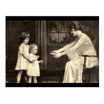 Baby's First Steps Vintage 1918 Post Card