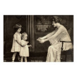 Baby's First Steps Vintage 1918 Poster