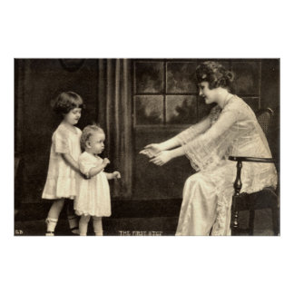 Baby's First Steps Vintage 1918 Posters