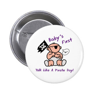 Baby's first talk like a pirate day pins