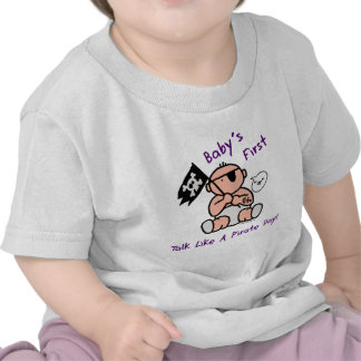 Baby's first talk like a pirate day tshirts