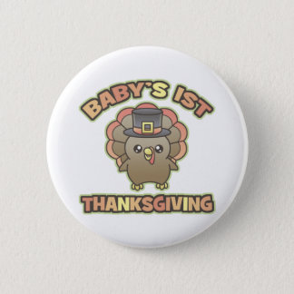 Baby's First Thanksgiving button