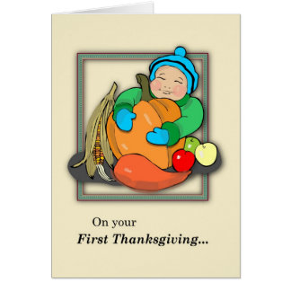 Baby's First Thanksgiving Card