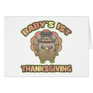Baby's First Thanksgiving Greeting/Note Card
