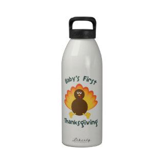 Baby's First Thanksgiving Reusable Water Bottle