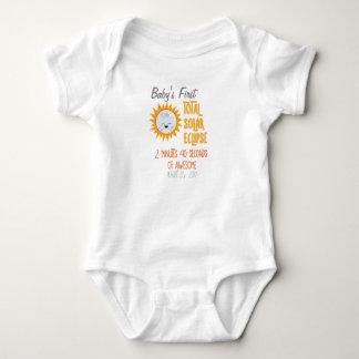 Baby's First Total Solar Eclipse Emoji Moon Baby Bodysuit